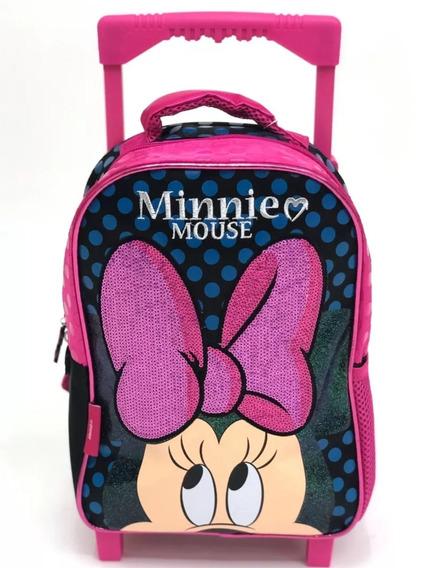 Mochila Con Carro 12 Minnie Mouse!!