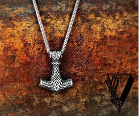Colar Martelo De Thor - Viking - Mjölnir - Força - Aço