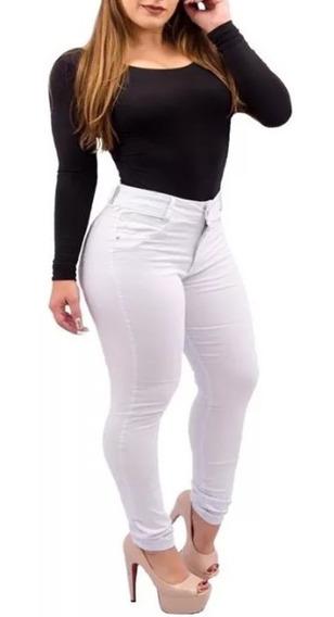 Calça Jeans Cintura Alta Branca Levanta Bumbum Calça Branca