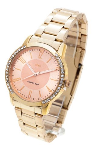 Reloj Knock Out Mujer 2265 Metal Strass Wr30