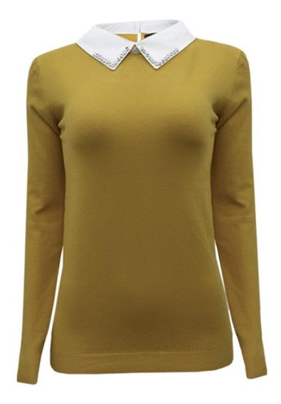Suéter Ligero Tipo Blusa Aplicación Pedrería 9238