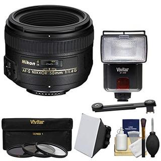 Nikon 50mm F / 1.4g Af-s Lente Nikkor = 3 Filtros + Flash Y