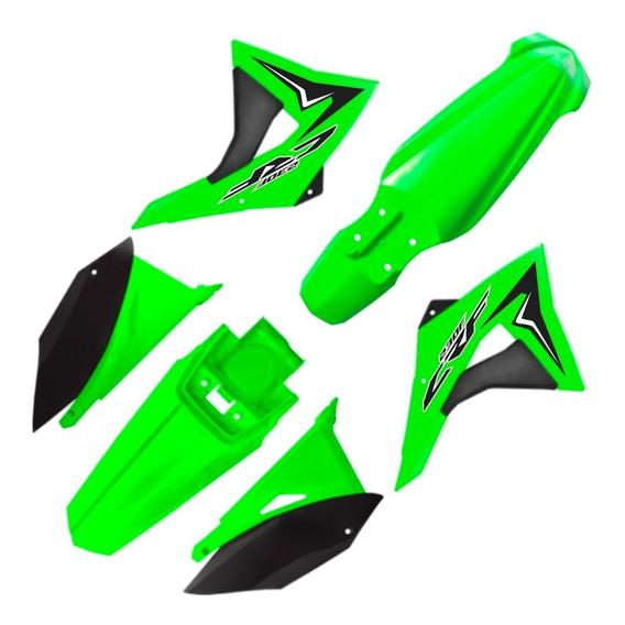Kit Plástico Crf 230 Elite Biker 2008 - 2018 Verde