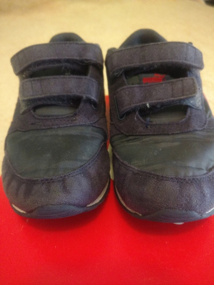 Zapatillas Puma Azul Runner Talle 30 Muy Bien Cuidadas