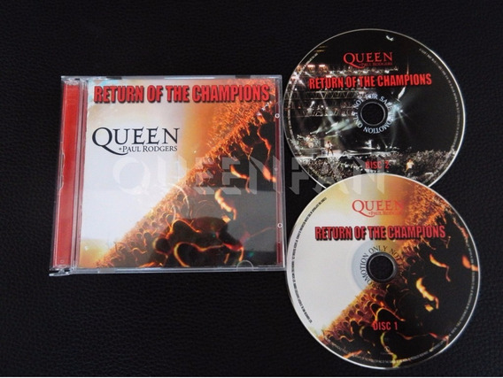 Cd Queen + Paul Rodgers Return Of The Champions Cd Duplo