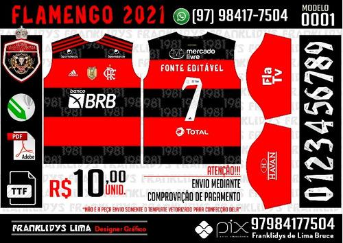 Template Flamengo 2021-22 Camisa Titular
