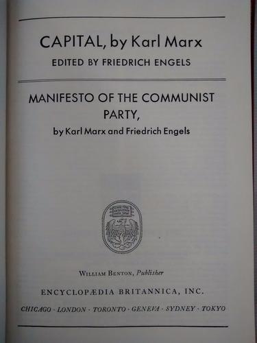 Imagen 1 de 6 de Capital Manifesto Communist Marx Engels Britannica Ingles
