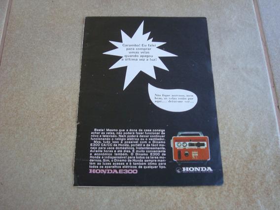 Propaganda Antiga Honda E300 Dinamo Gerador Moto 1968 1