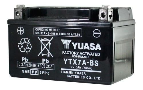 Imagen 1 de 2 de Bateria Ytx7a Bs Gel Rx 150 Scooter 125 Yuasa Sti Motos Full