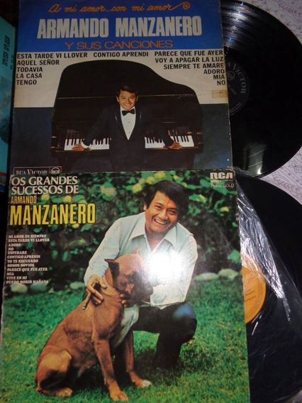 2 Lps Armando Manzanero, Mús. Românt. Mexicana - Usados