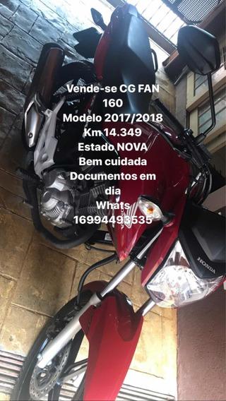 Honda Cg Fan 160 Vermelho