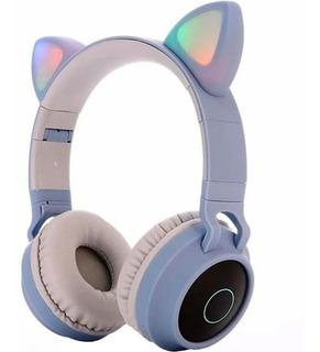 Diadema Inalambrica Orejas De Gato Luces Led Blu Bluetooth 5