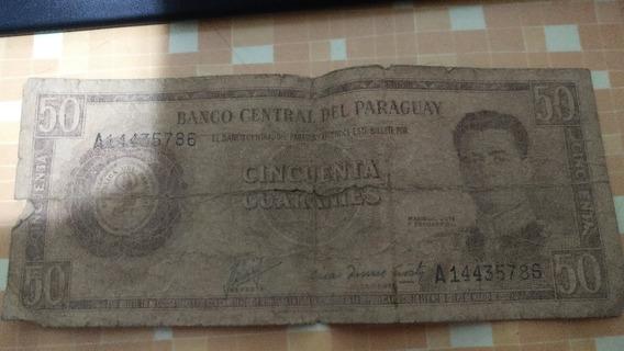Billete 50 Guaraníes 1952
