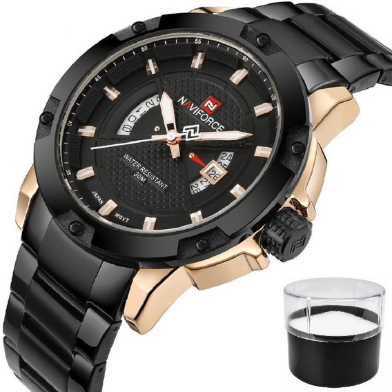 Relógio Masculino Naviforce 9085 Luxo Estojo Nota Fiscal Top