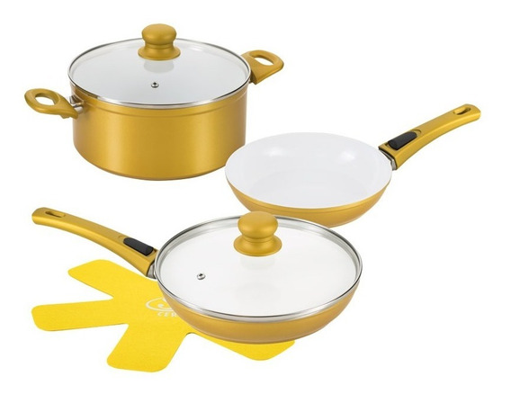 Sartenes Cerafit Gold Master 6 Pzas Flavor Stone