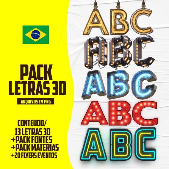 Pack Letras 3d Para Flyers/banners. Photoshop/corel Draw