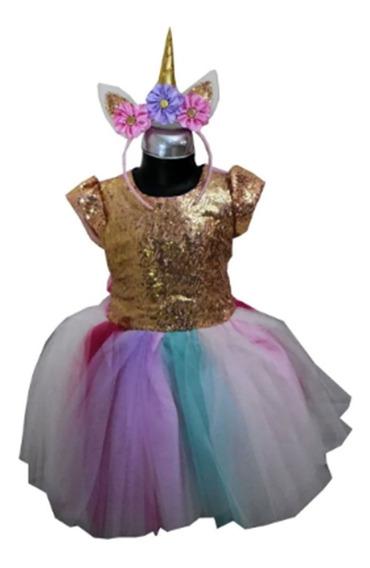 Vestido Princesa Unicornio,con Envio Gratis.