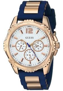 Reloj Guess W0325l8 Dama Silicona Oro Rosa 100% Original