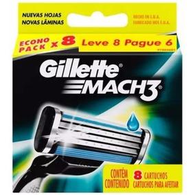 Carga Para Aparelho De Barbear Gillette Mach3 - 32 Unidades