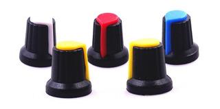 Perilla Potenciómetro 6 Mm Diámetro Plastico Colores Varios