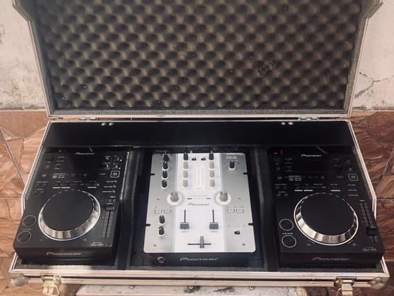 Case Completa Para Dj Pioneer 2 Cdj 350 + 1 Mixer Djm 250