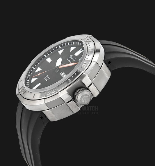Reloj Alexandre Christie Diver 10 Atm Acero Y Caucho