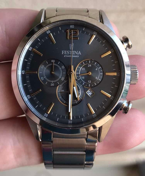 Relógio Festina Modelo F20343/3 Usado, Original E Completo