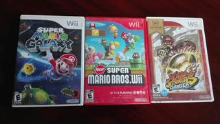 Cajas Originales Wii Super Mario Galaxy, Mario Strikers