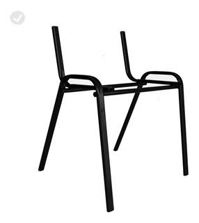 Estrutura Cadeira Iso Empilhável   Pintura Epóxi Preta