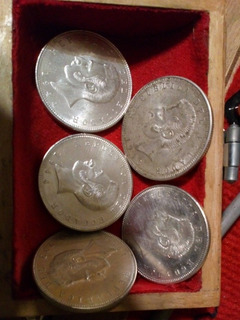 Moneda 5 Sucres Plata 1943 Y1944