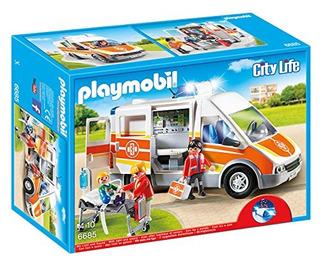 Ambulancia Playmobil Con Luces Y Sonido