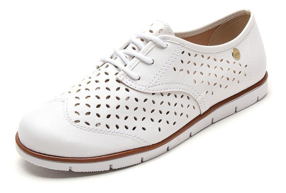 Mocasin Oxford Moleca Laser Cut 5613.628 Natural Calzados