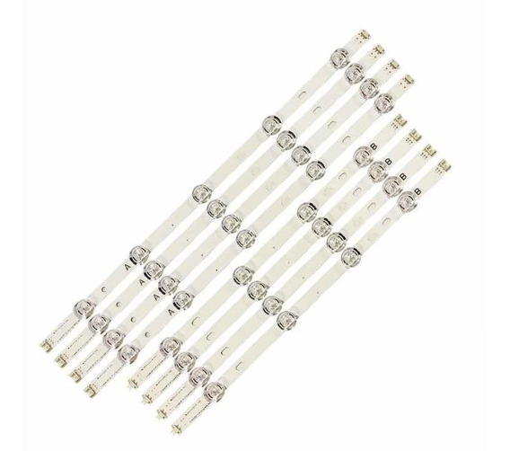Kit Novo C/8 Barras Led 47lb5600 47lb5800 47lb6500 47lb5500