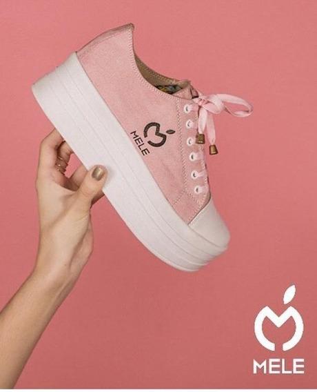 Zapatos De Damas Marca Mele Shoes Con Trenzas.