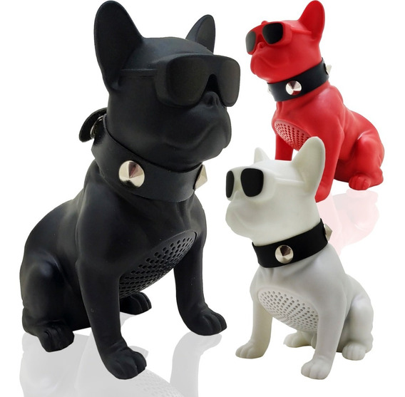 Caixa Som Bluetooth Portátil Bulldog Francês Cachorro E Late