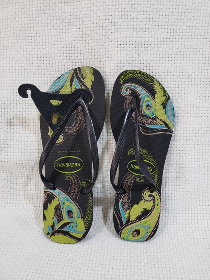 Sandália Chinelo Havaianas Slim Organic Tamanho 39/40