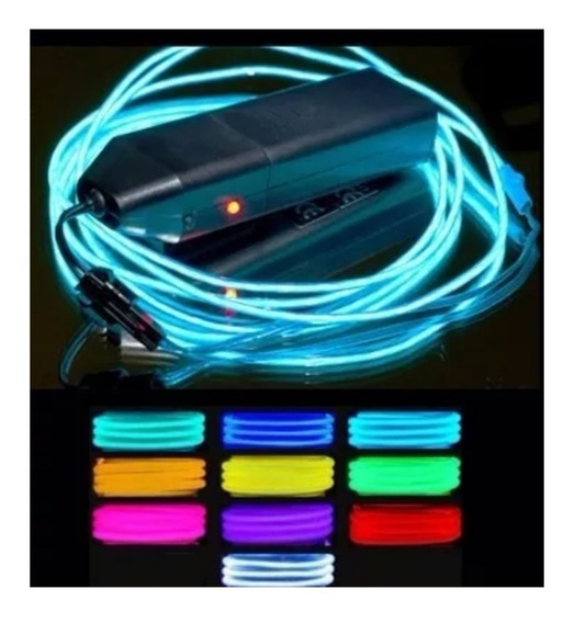 El Wire Hilo Luminoso Led Neon Multiuso Flexible 3mts Pila