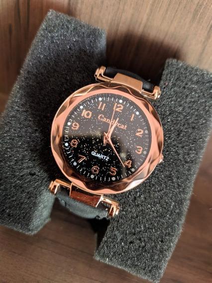 Relógios Feminino De Pulso Preto Quartzo Moda Feminina