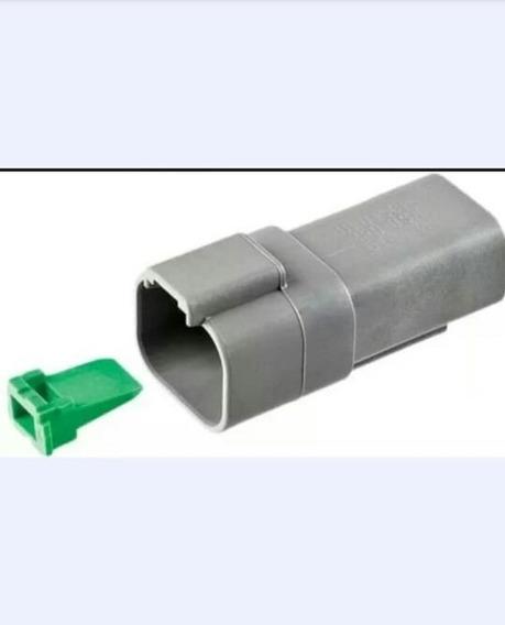 Kit Conector Deutch Dt04-4p Com Trava E Terminais