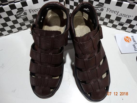 Sandalias Hombre Free Lance Comfort ® Cuero -zapatos- Diseño 2018