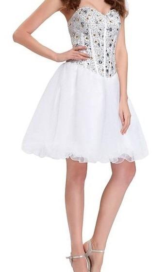 Vestido Branco Curto De Festa - 42/44
