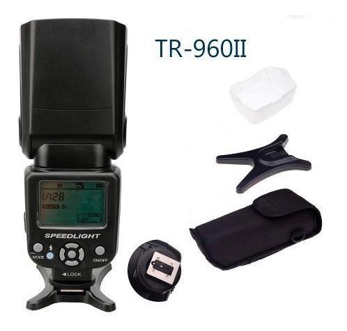 Flash Speedlight Triopo Tr-960ii Canon Nikon Flash Universal