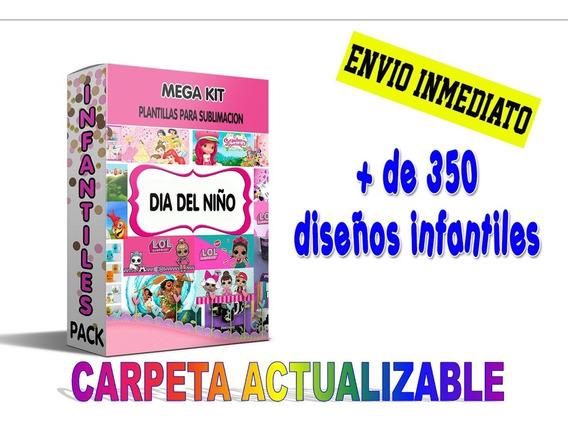 Plantillas Infantiles Niños +300 Diseños Sublimacion Tazas
