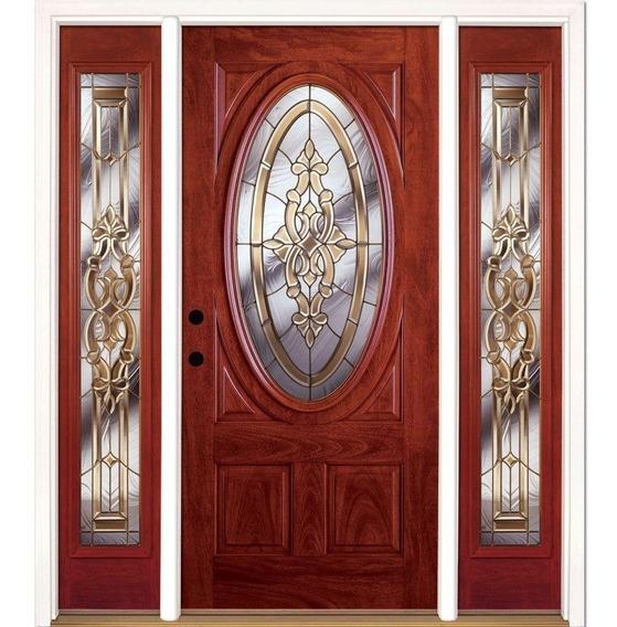 Puerta Principal Colonial Fibra De Vidrio Americana Clásica