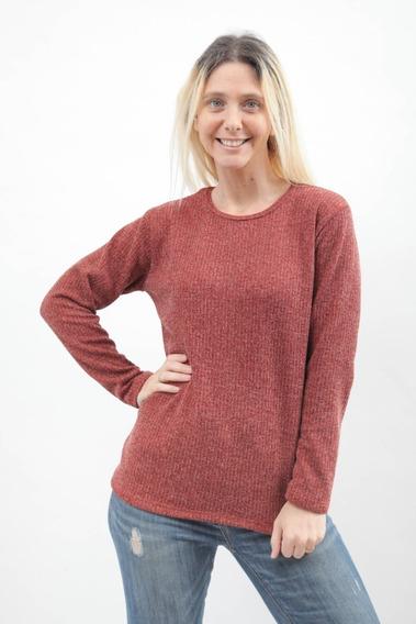 Sweater De Dama Manga Larga Lanilla Con Brillo Art 3117