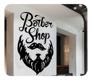 Adesivo Decoração Papel Parede Barbearia Cabeleireiro Oferta