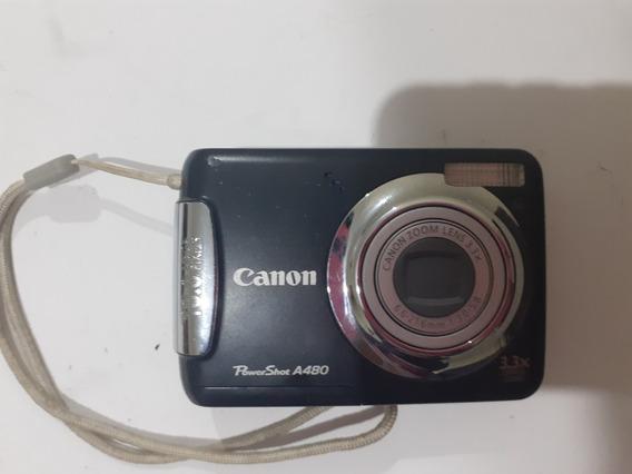 Câmera Canon Power Shot A480 Com Defeito Dl 72