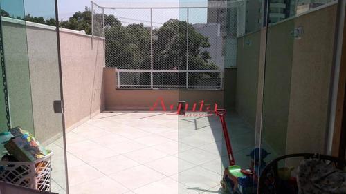 Cobertura Com 2 Dormitórios À Venda, 62 M² Por R$ 520.000 - Vila Scarpelli - Santo André/sp - Co0685