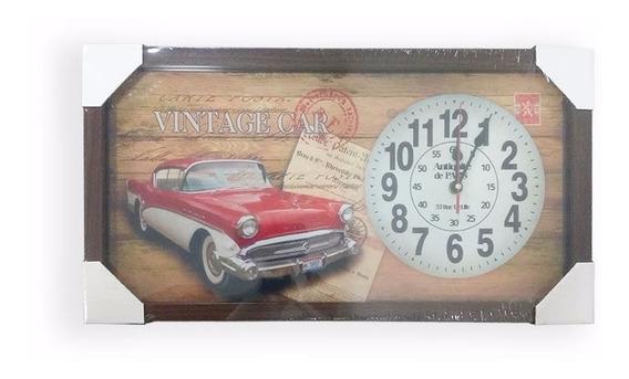 Relógio Parede Decorativo Quadro 26x50cm Moldura Madeira