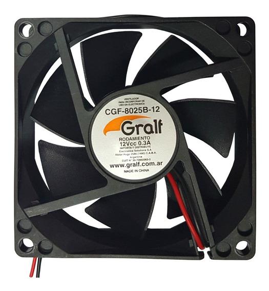 Turbina Cooler Fan Extractor 80x80x25mm 12vcc Ruleman 3 Pulgadas